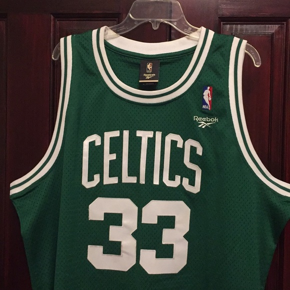 newest 266b3 c4b62 REEBOK HARDWOOD CLASSICS LARRY BIRD CELTICS JERSEY